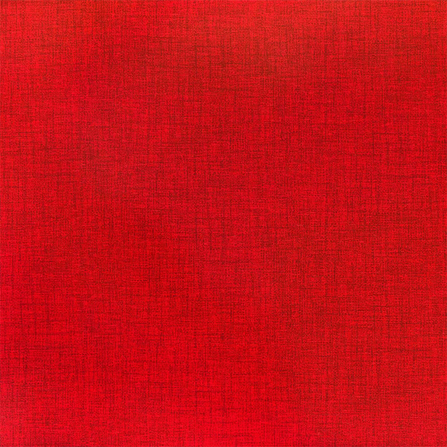 Loneta estampada efecto rústico rojo
