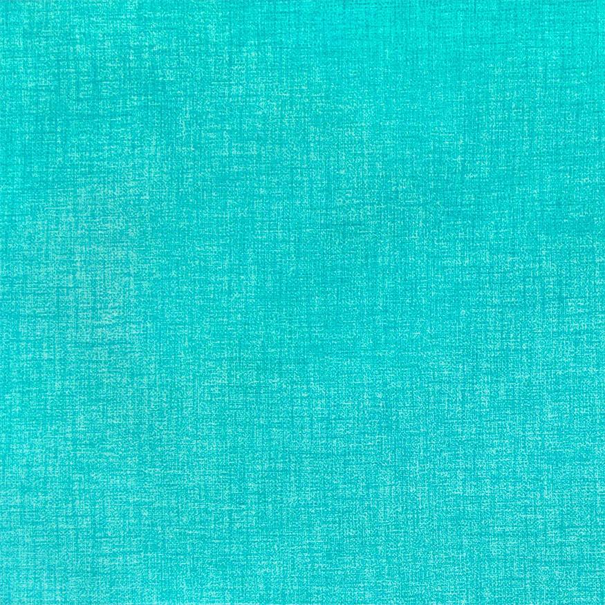 Loneta estampada efecto rústico turquesa
