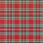 Tejido hilo tintado Navidad cuadro escocés rojo y verde