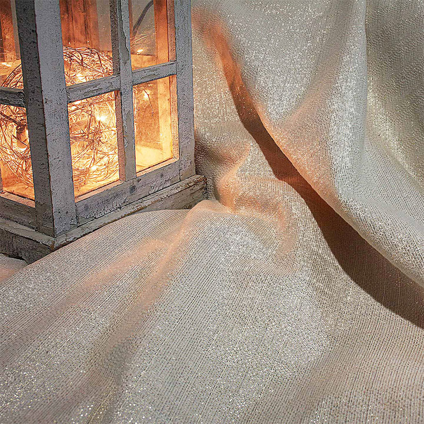Tela efectos metálicos dorada plateada hilo lurex