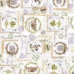 Tela loneta estampada estilo provenzal lavanda oliva patchwork