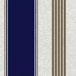 Tela loneta estampada rayas azul marino y dorado viejo