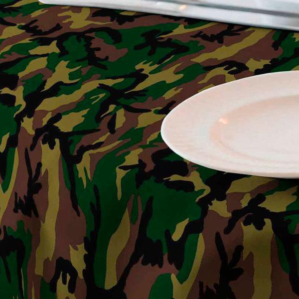 Tela para mantel resinado camuflaje