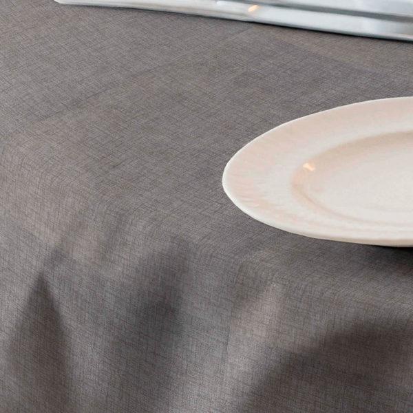 Loneta resinada color gris