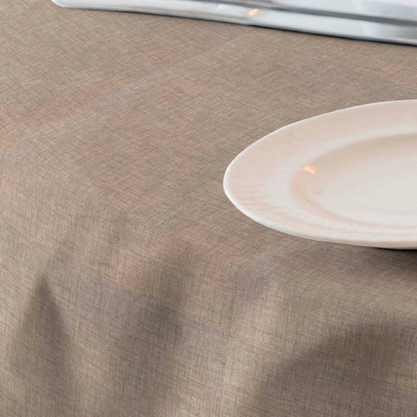 Loneta para mantel resinado color marrón