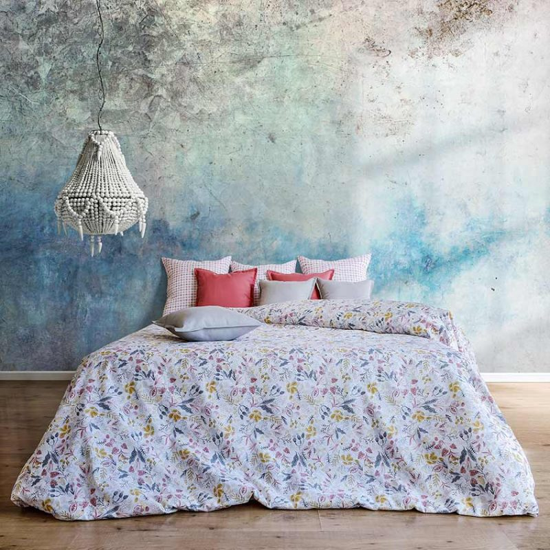 loneta estampada de flores. canva, toile,