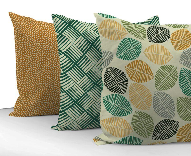 loneta geométrica, estampado natural textil hogar