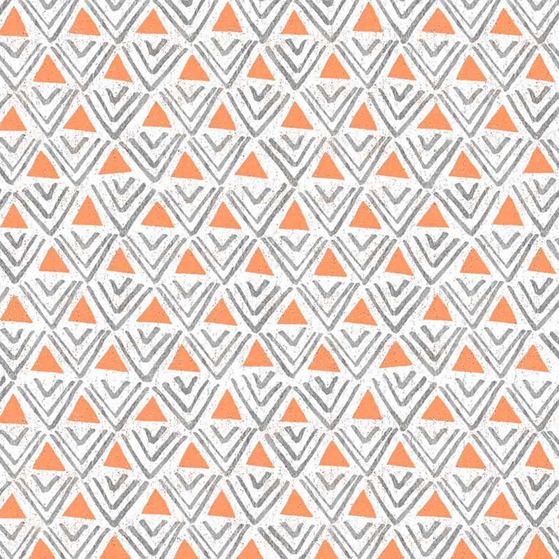 Loneta geométrica de triangulos color naraja