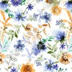 tela para decorar flores acuareladas