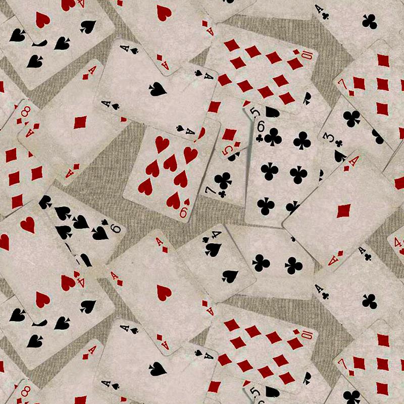 Loneta de cartas de juegos de azar para decorar