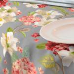 Loneta de flores para mantel resinado