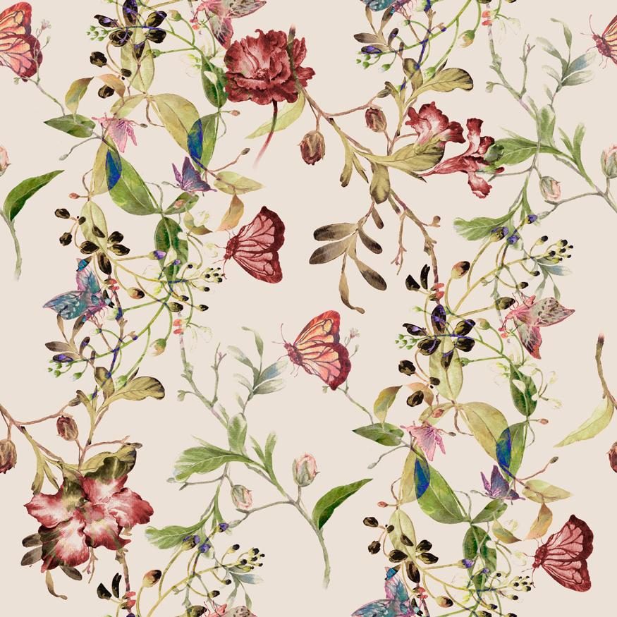Tela con mariposas para decoración, bolsos, accesorios