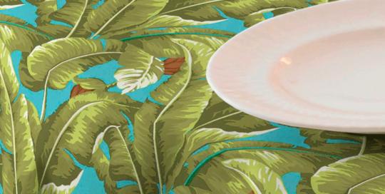 loneta de palmeras tropical