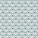 Loneta geométrica en color verde para decorar