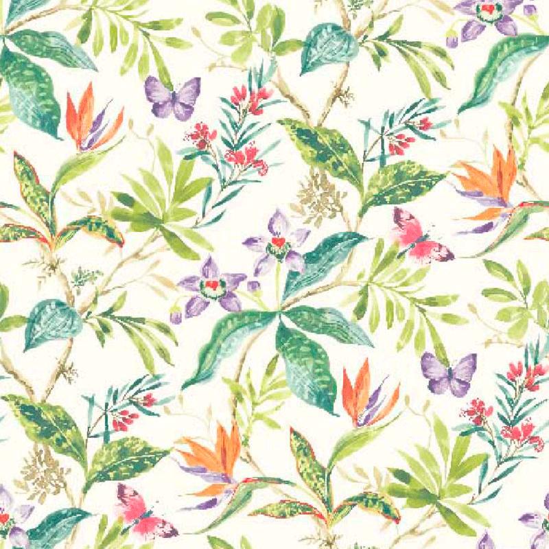 Loneta tropical de flores modernas tela para decorar