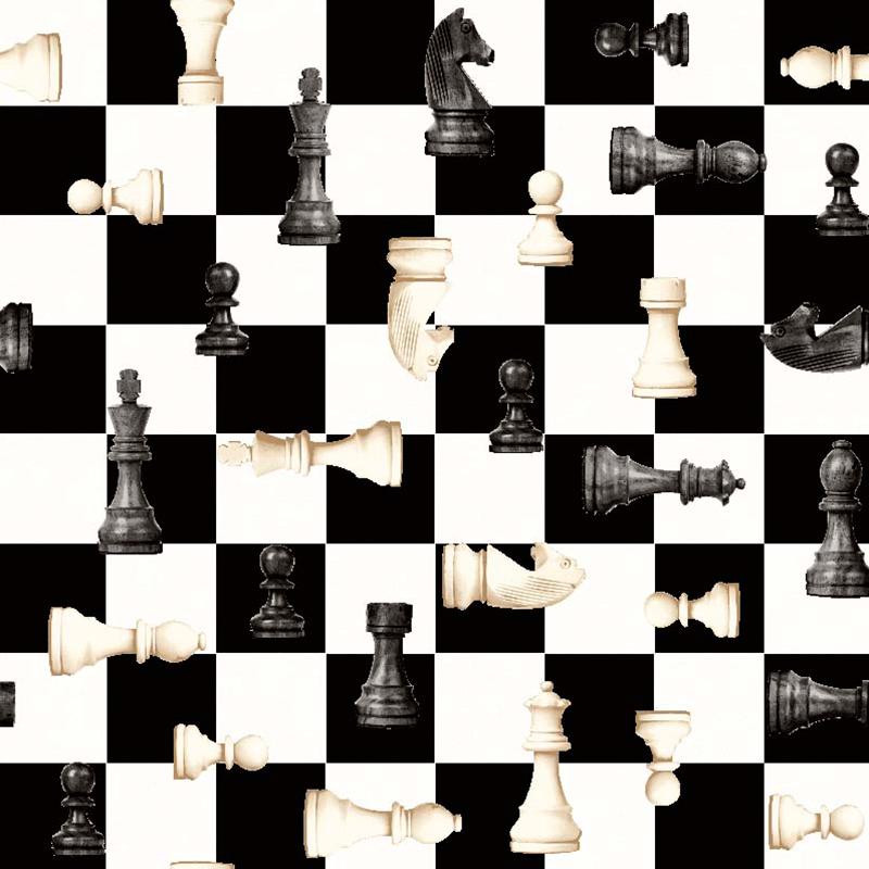 Loneta de juegos de mesa damas o ajedrez para decorar