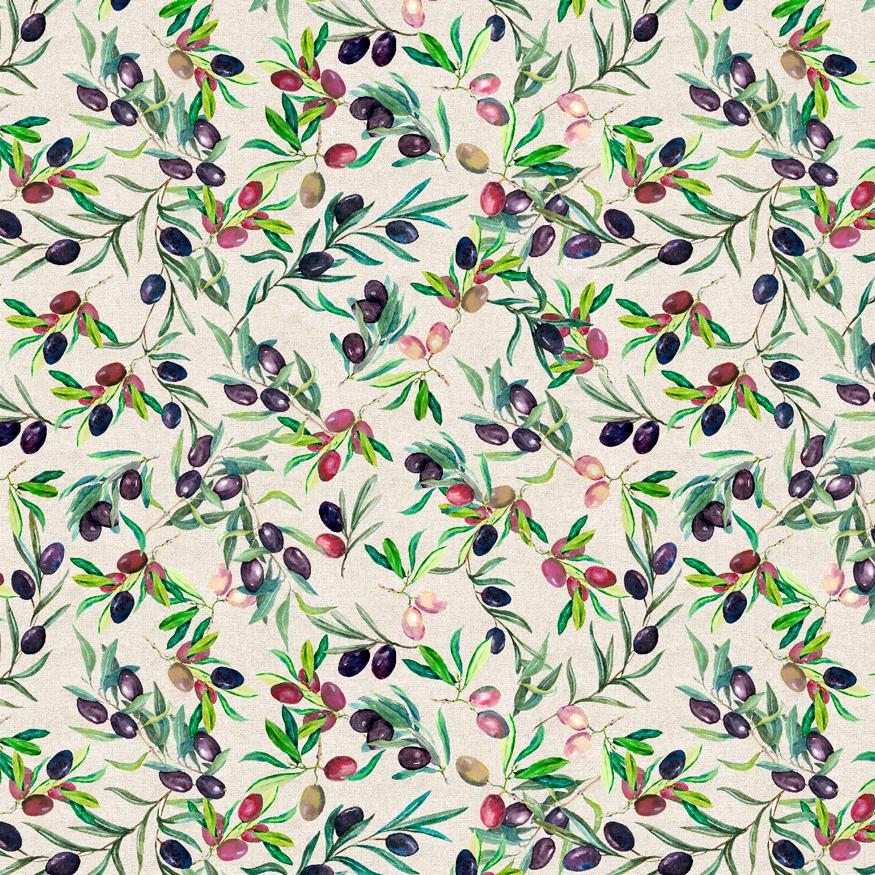 Textil hogar estampado de olivas