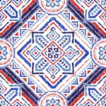 Loneta estampada cerámica mediterranea