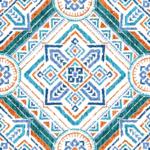loneta estilo cerámica mediterranea