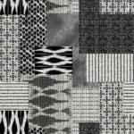 loneta color negro geométrico