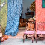 Telas para cortinas de flores Loneta
