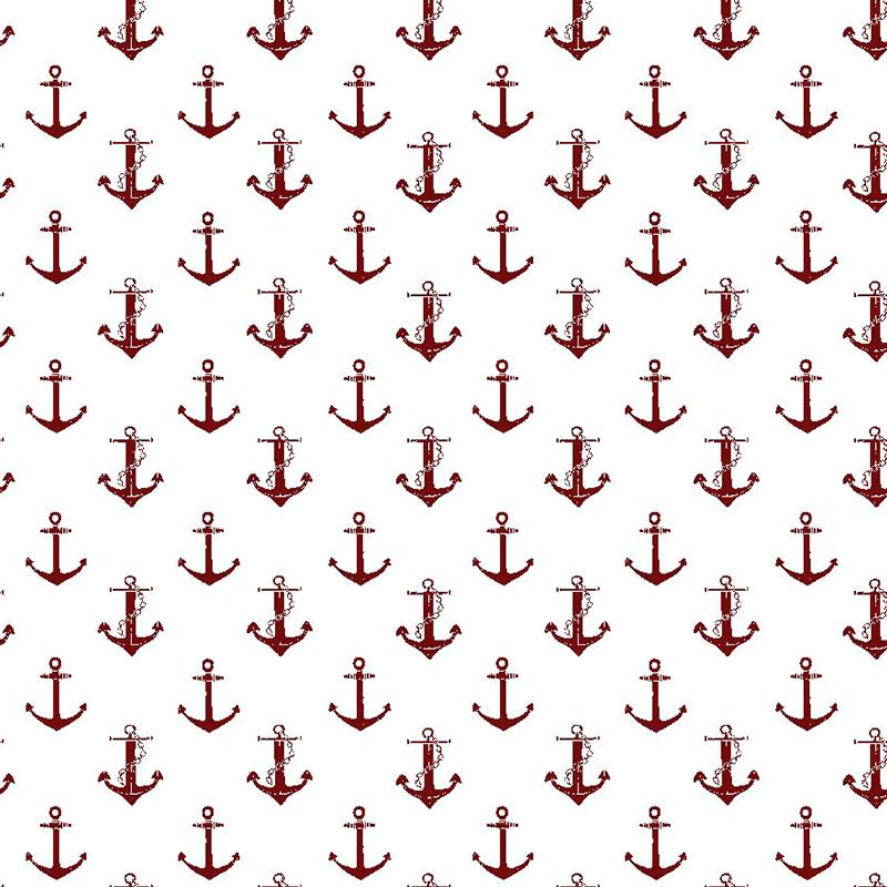 tela de anclas rojas