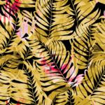 Loneta para decoración accesorios tropical en amarillo