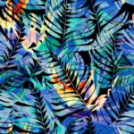 loneta de hojas tropicales