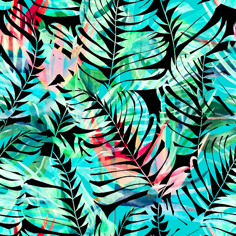Telas de decoración Loneta diseño tropical