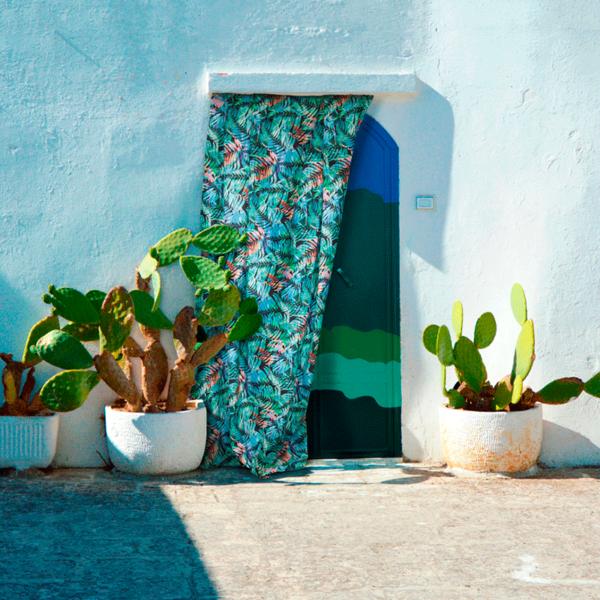 Telas tropicales para decoración loneta canvas