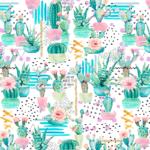 lonetas con cactus para decoración y accesorios tela resistente