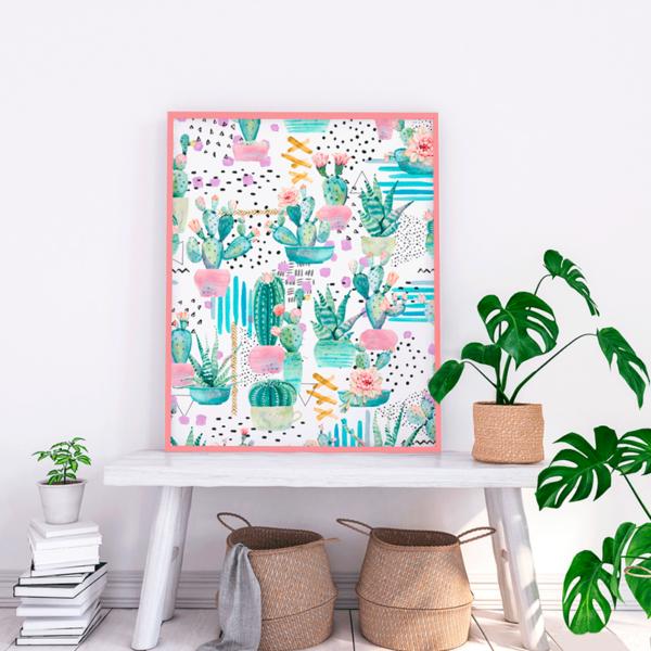 tela de cactus para decoración