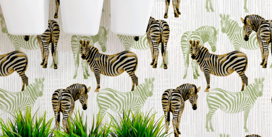 loneta tela con cebras animal print