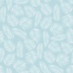 loneta de hojas tropicales en color azul verde y rosa