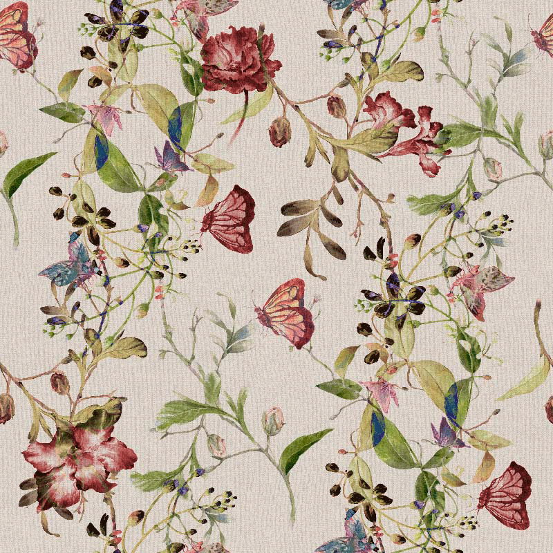 fabrics of butterflies and flowers home decor