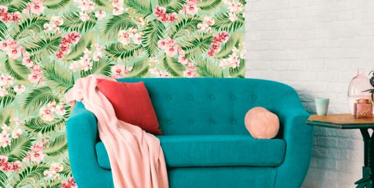 telas tropicales, loneta botánica tropical