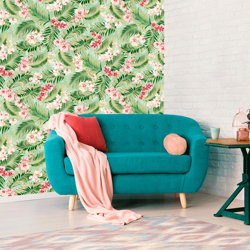 Loneta tropical para decoración de interiores hogar