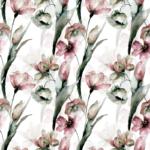 Loneta de flores elegantes