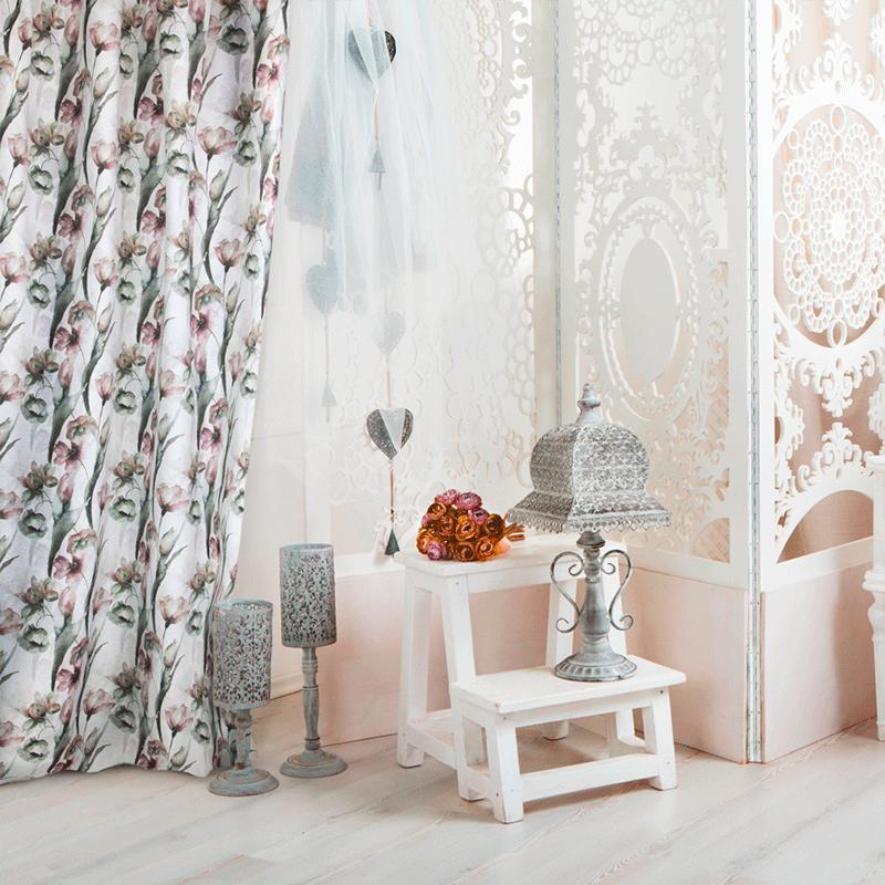 decoración hogar con Loneta estilo romantico