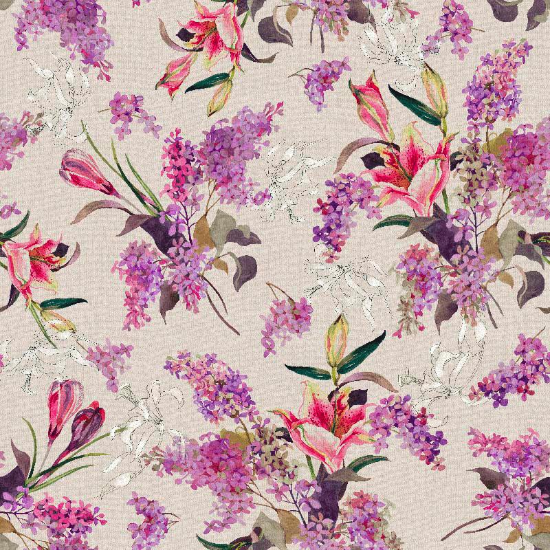 Loneta fabric flowers home decor