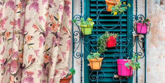 fabrics printing with flowers ideal for home decor