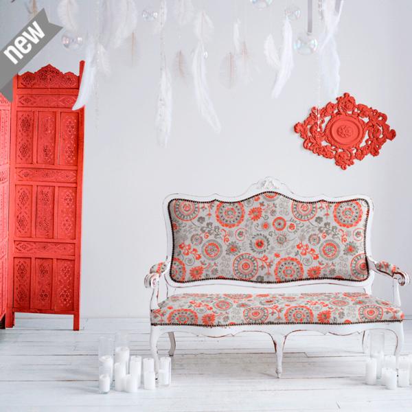 Loneta estilo vintage para decoracion y accesorios