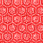 Loneta en color rojo de formas geométricas
