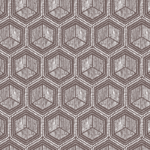 telas de hexágonos color gris