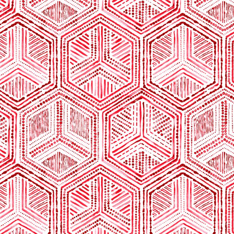 Hexágonos en telas para decoración loneta