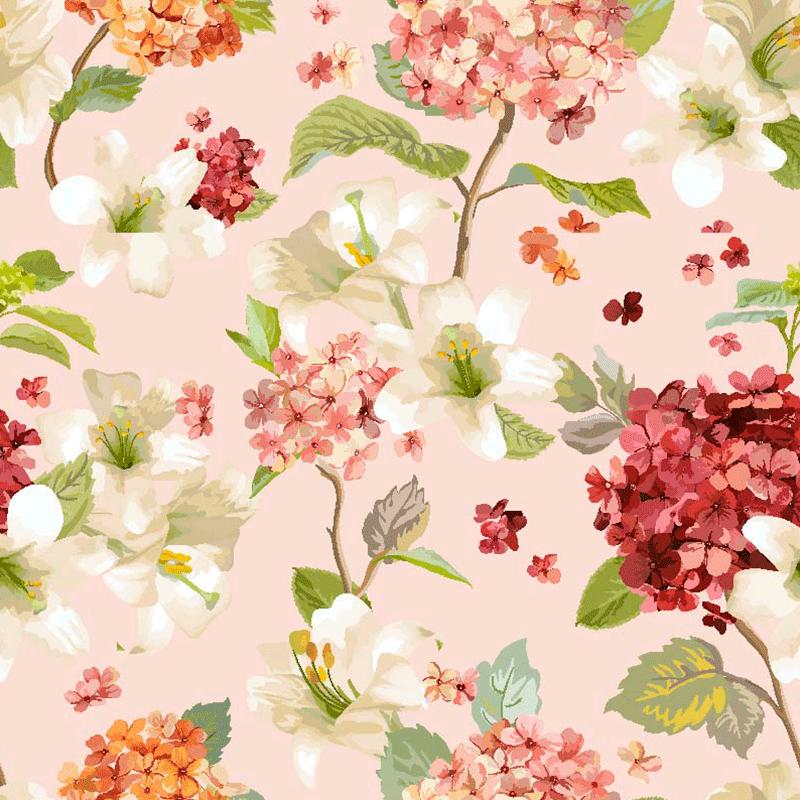 lonetas de flores estampadas estilo rómantico