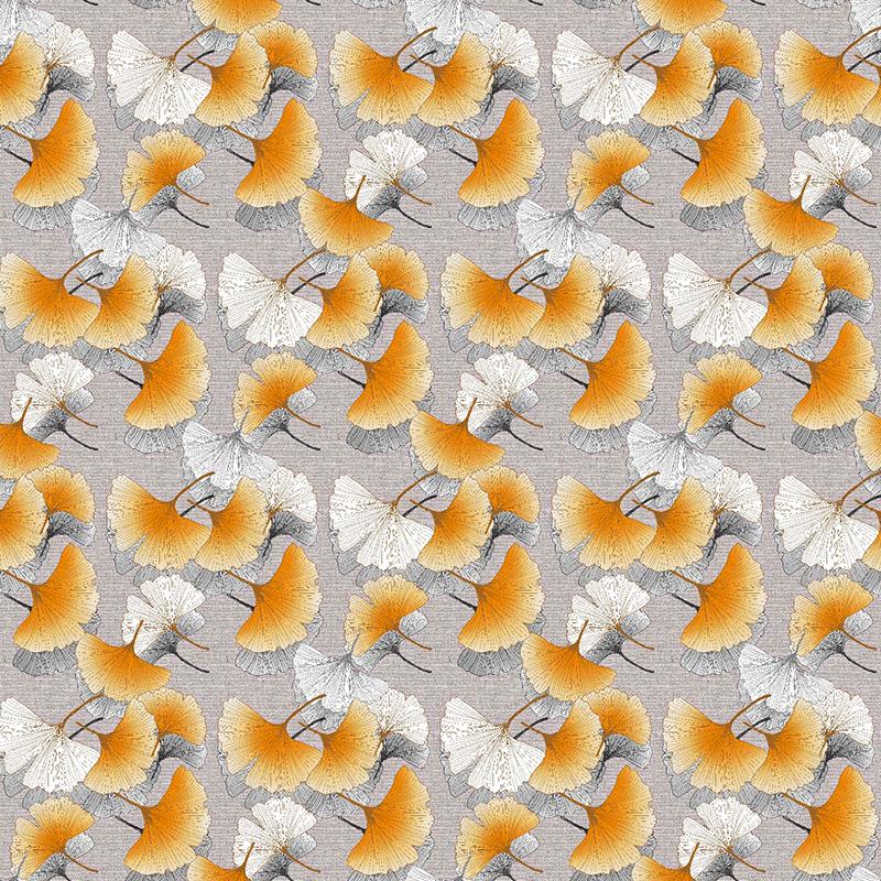 Loneta de flores estampadas ginkgo