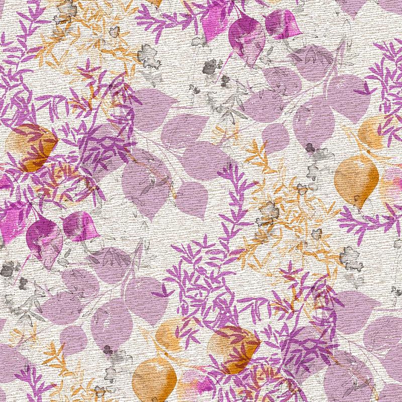Loneta estampada de flores modernas tapizar mantel cojín telas