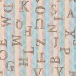 Loneta estampada de letras vintage