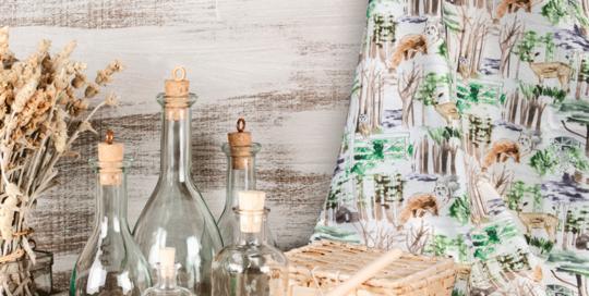 decoración natural de bosque para hogar loneta